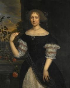 Portret van een onbekende vrouw, mogelijk van de familie Nispen