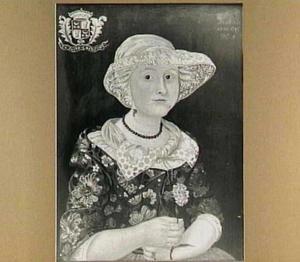 Portret van Jetske Gonggrijp (1734-1753), zuster van de schilder