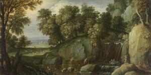 Landschap met satyrs