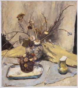 Stilleven met gedroogde bloemen