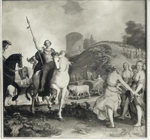 Theagenes en Charicleia te Delphi tijdens de Pytische spelen (Heliodorus' Aethiopica' boek 3)