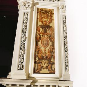 Lodewijk XIV ornamenten met het wapen van Veere