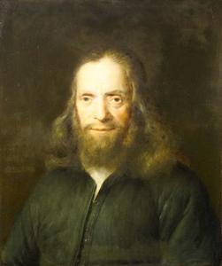 Portret van een man in een groene jas