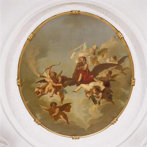 Ganymedes door Jupiter (in de gedaante van een adelaar) naar de Olympus gevoerd