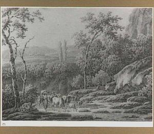 Italianiserend heuvellandschap met herders en vee