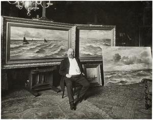 Hendrik Willem Mesdag in zijn atelier aan de Laan van Meerdervoort 9, Den Haag