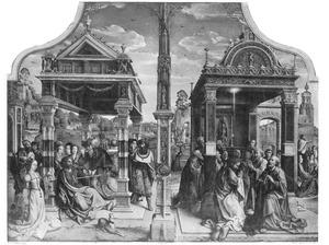 Taferelen uit het leven van de apostelen Thomas en Matthias