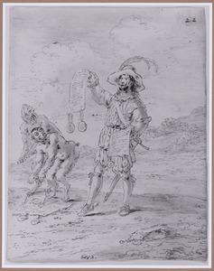 Een edelman in de hel beroept zich op zijn hoge afkomst (Suenos 1641, boek III, zesde droom)