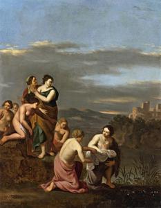 Mozes wordt gevonden door de dochter van de farao