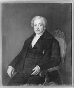 Portret van Benjamin Nieuwold (1782-1851), predikant te Leeuwarden