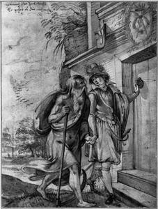 Jongeman met Vader Tijd:  Allegorie op de tijd