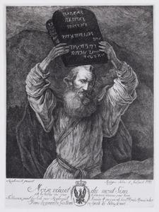 Moïse vénant du mont Sina - jette les tables des dix Commendémens par terre