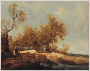 Landschap met de doop van de kamerling (Handelingen 8:26-40)