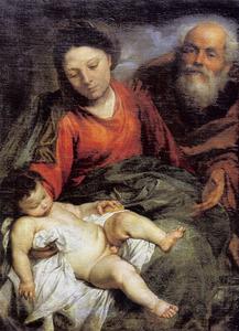 De heilige Familie met de slapende Jezus Christus