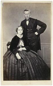 Portret van Gerhard Hendrick Uhlenbeck (1815-1888) en Maria Catharina Godin (1824-1892)