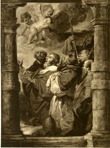 De kerkelijke hiërarchie in aanbidding