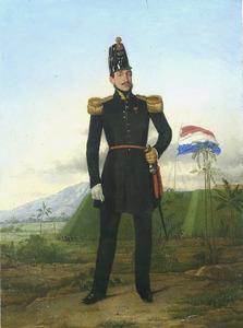 Portret van een officier van het Nederlands-Indisch leger
