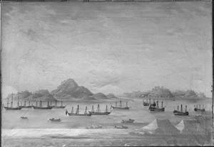 Scheepvaart op de rede van Macao