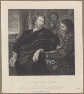 Portret van de verzamelaar en diplomaat George Gage (?-1640) met twee assistenten