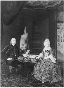 Dubbelportret van Paulus van der Spijk (1727-1779) en Anna Louise van der Meulen (?-1782)