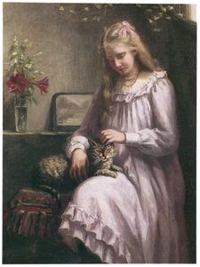 Jong meisje met kat