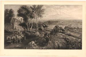 Landschap met kasteel 'Het Steen' bij Elewijt