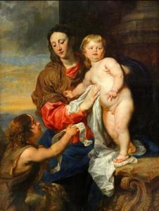 Maria en kind met Johannes de Doper als kind