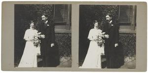 Portret van Philip Maurits (Mauke) van der Haer (1877-?) en Laurence Emilie (Kiek) Ditilh (1885-1962)