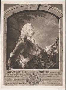 Portret van veldmaarschalk Adam Gottlob Moltke (1710-1792)