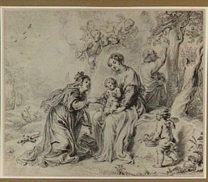 Het mystieke huwelijk van de Heilige Catharina van Alexandrië