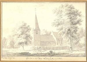 Leur, gezicht op de kerk 1732