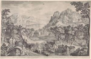 Berglandschap met de profeet Hosea (Hosea 1:3-11)