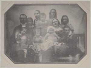 Portret van Jan Boeke (1804-1854) met zijn gezin
