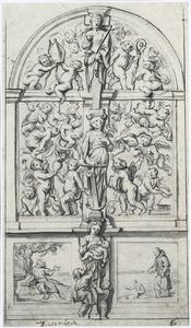"""Ontwerp voor de """"Engelenpoort"""" van de Augustijnenkerk te Tienen"""