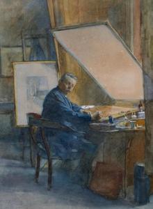 Portret van de kunstenaar C.L. van Kesteren