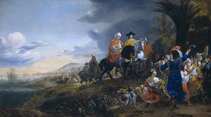 Het Hollandse gezantschap onder leiding van Johannes Cuneaus op weg naar Isfahan (Perzië) in 1651-1652