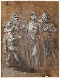 Christus ontmoet zijn discipelen op de weg naar Emmaus