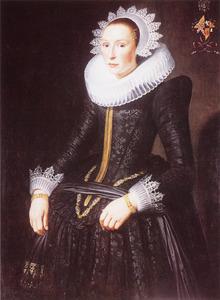 Portret van Catharina van der Hoeff (1600-1666)