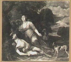 Venus treurend over de dode Adonis