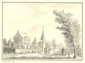Hoevelaken, gezicht op het dorp met de kerk