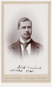 Portret van Dirk Anne Eli Immink (1875- )