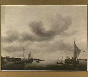 Scheepvaart bij een havenplaats