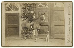 Portret van Justine Therese Civile de Constant Rebecque de Villars (1855-1951)