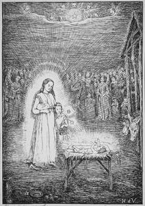 Gotelindis bij de geboorte van Christus