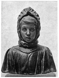 Meisjesportret met wollen kaper