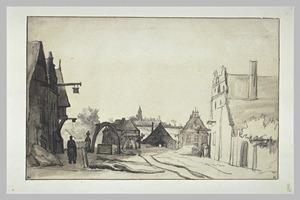 Dorpsstraat in Niederelten