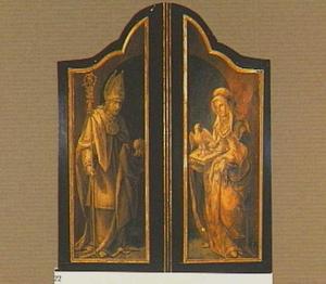 De H. Augustinus van Hippo (links) en de H. Monica (rechts)