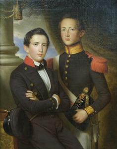 Portret van jonkheer Johan de Kock en Henri Wendelin baron de Kock