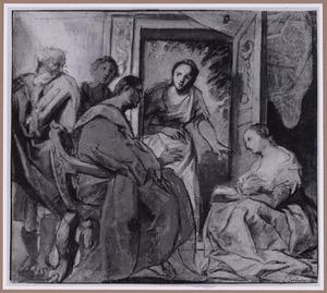 Christus bij Maria en Martha (Lucas 10:38-42)