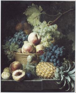 Vruchtenstilleven met een ananas